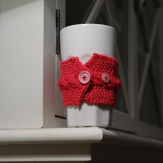mon premier cup warmer tricot le blog de flexyflow. Black Bedroom Furniture Sets. Home Design Ideas