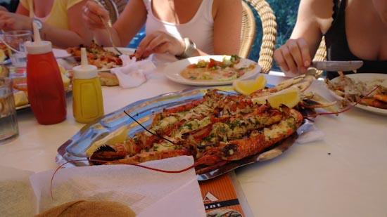 restaurant plage de Taghazout
