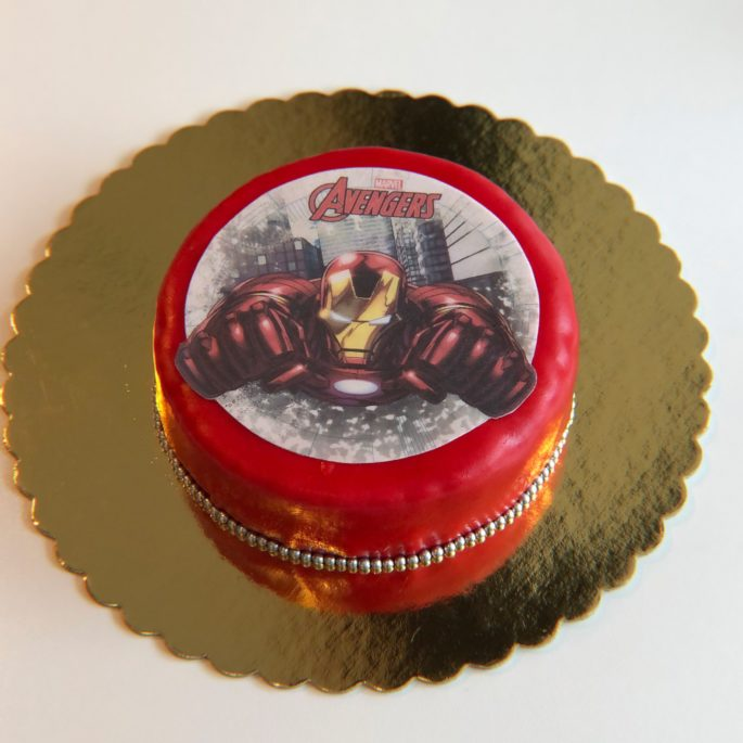 gâteau avengers captain america
